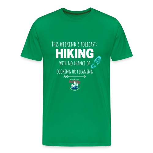 Forecast for the Weekend: Hiking - Men's Premium T-Shirt