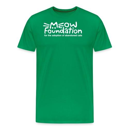 MEOW Foundation White Logo Tagline - Men's Premium T-Shirt