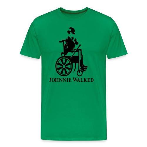Johnnie Walked, Wheelchair fun, whiskey and roller - Men's Premium T-Shirt