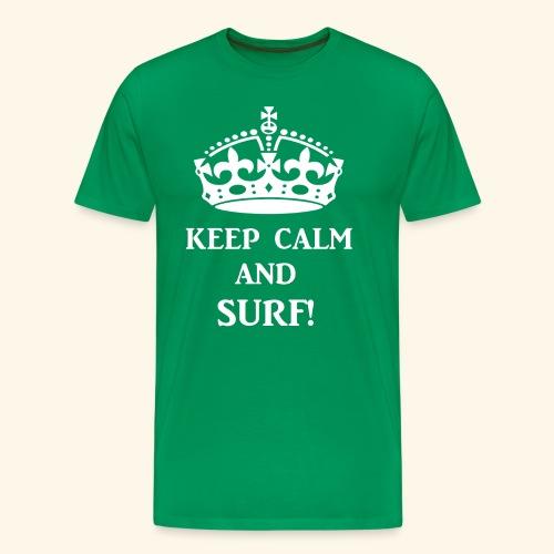 keep calms surf wht - Men's Premium T-Shirt