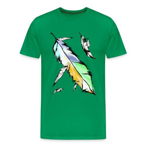 Soft Colored Feathers - Men's Premium T-Shirt