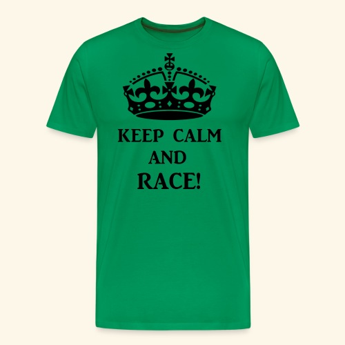 keepcalmraceblk - Men's Premium T-Shirt