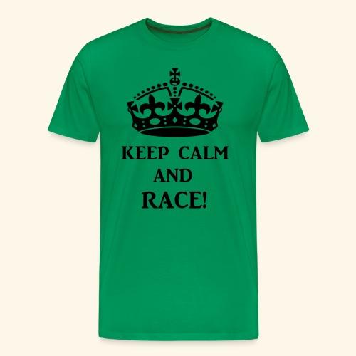 keepcalmraceblk - Men's Premium T-Shirt