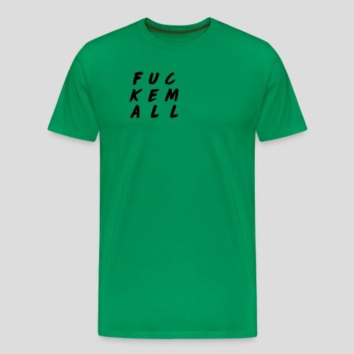 FUCKEMALL Black Logo - Men's Premium T-Shirt