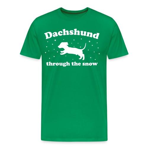 Dachshund Through the Snow Xmas - Men's Premium T-Shirt