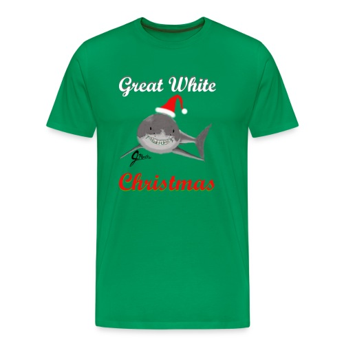 Dreaming of a Great White Christmas - Men's Premium T-Shirt