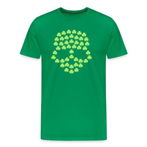 Shamrocks Skull - Men's Premium T-Shirt