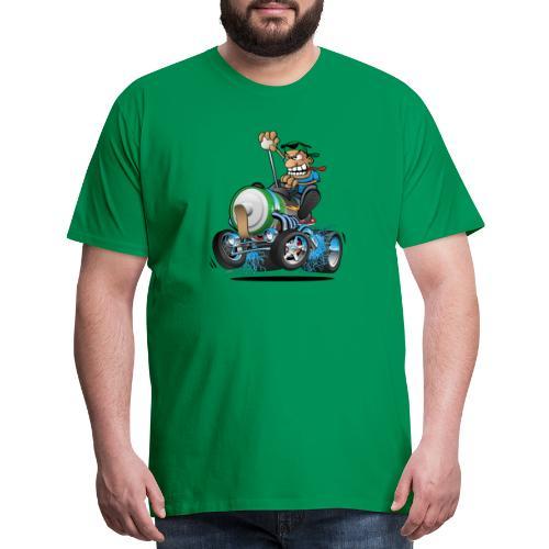 Hot Rod Electric Car Cartoon - Men's Premium T-Shirt