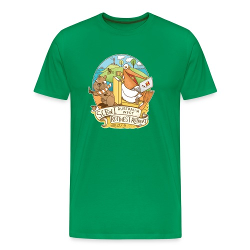 SCBWI Australia West 2019 Rottnest Retreat - Men's Premium T-Shirt