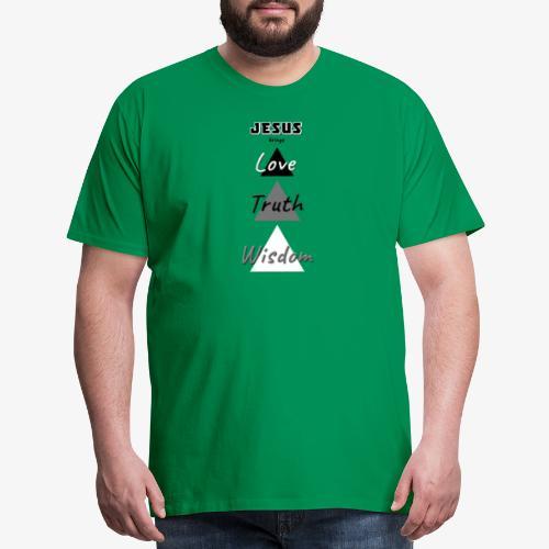 Love Truth Wisdom - Men's Premium T-Shirt