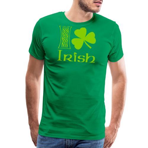 I Shamrock Irish Vector - Men's Premium T-Shirt