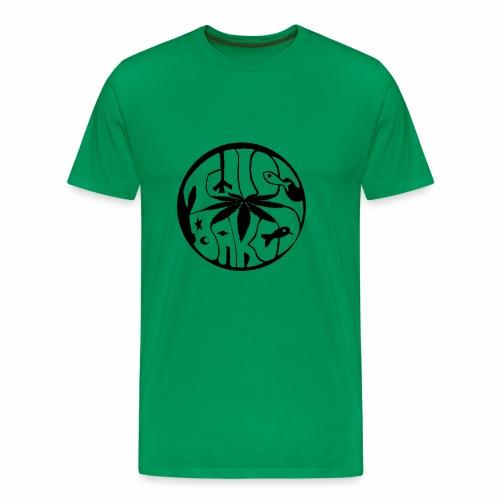 tWicEbakED logo, black circle - Men's Premium T-Shirt