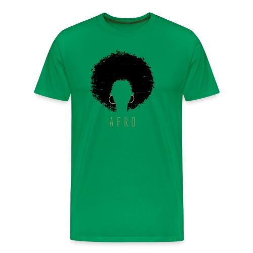 Black Afro American Latina Natural Hair - Men's Premium T-Shirt