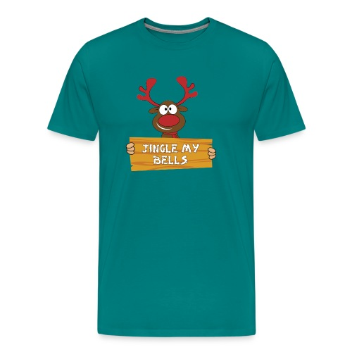 Red Christmas Horny Reindeer 1 - Men's Premium T-Shirt