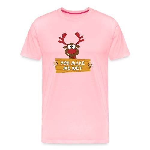Red Christmas Horny Reindeer 2 - Men's Premium T-Shirt