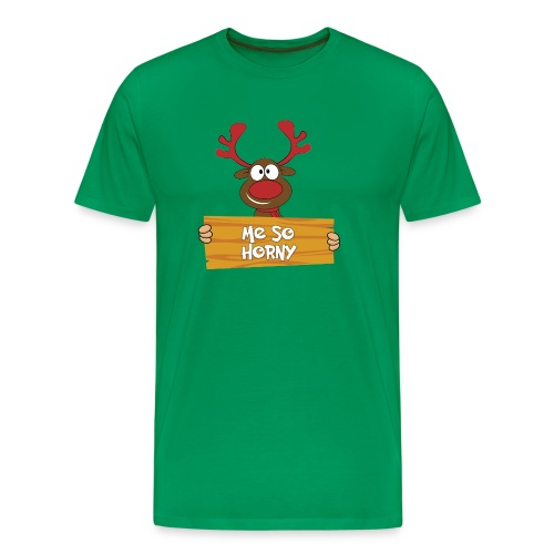 Red Christmas Horny Reindeer 6 - Men's Premium T-Shirt