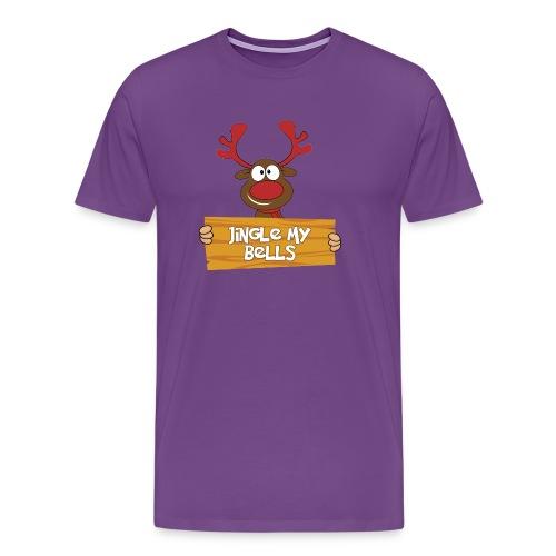 Red Christmas Horny Reindeer 4 - Men's Premium T-Shirt
