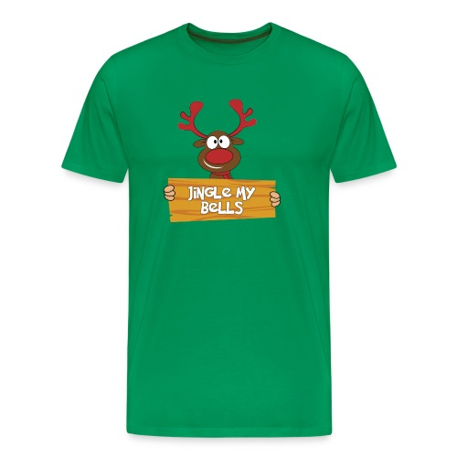 Red Christmas Horny Reindeer 4 - Men's Premium T-Shirt