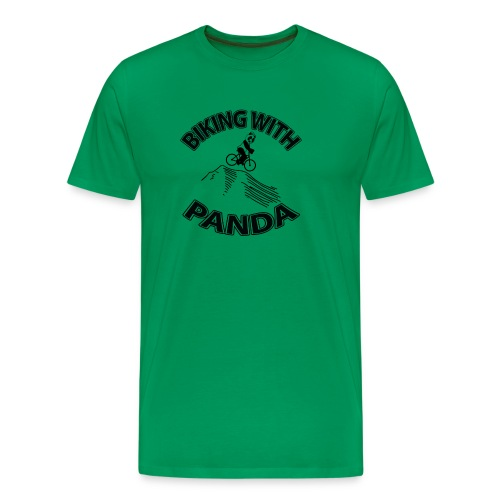 Biking with Panda - Men's Premium T-Shirt