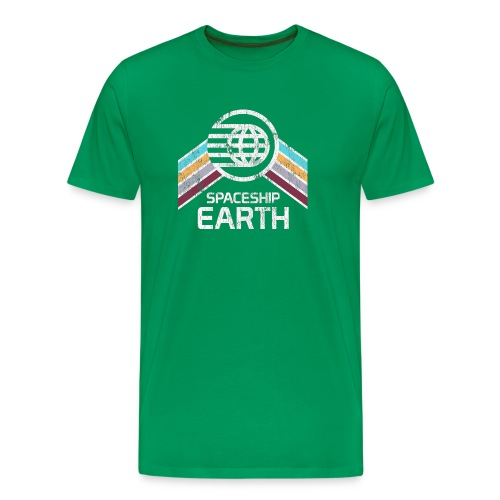 Earth with Distressed Logo - Men's Premium T-Shirt