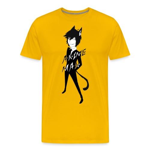 Monochrome Anime Man - Men's Premium T-Shirt