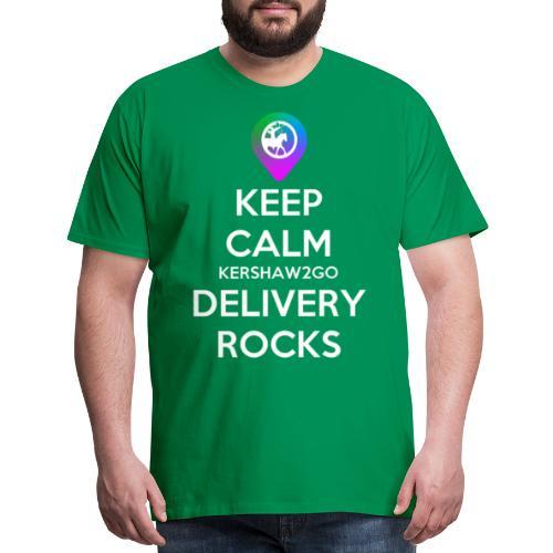 Keep Calm KC2Go Delivery Rocks - Men's Premium T-Shirt