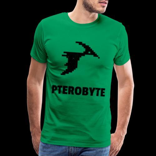 Pterobyte | Epic Digital Dinosaur - Men's Premium T-Shirt