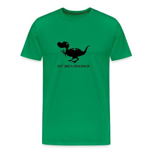 eatlikeadinowhiteshirt2 - Men's Premium T-Shirt