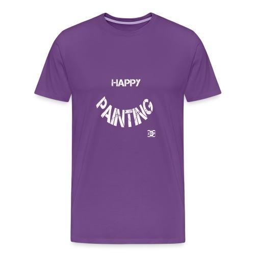 Happy Painting with Logo - Men's Premium T-Shirt