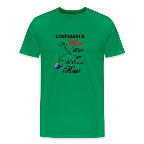 With or Without Beat SpilledPaint- Asphalt - Men's Premium T-Shirt
