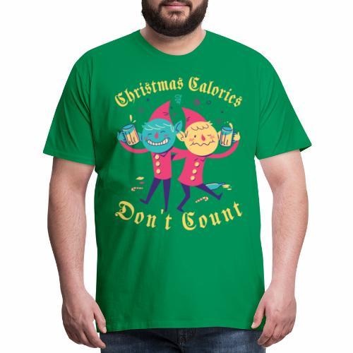 Christmas Calories Don't Count | Drinking Elves - Men's Premium T-Shirt