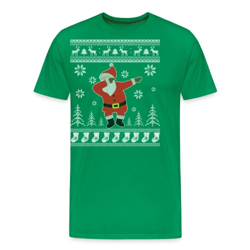 Ugly Christmas Sweater Dabbing Santa Funny Shirt - Men's Premium T-Shirt
