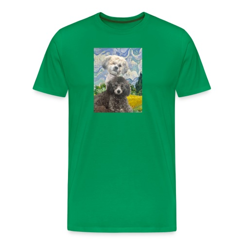 Morty and Wonton - Dogs of Modern Art - Men's Premium T-Shirt