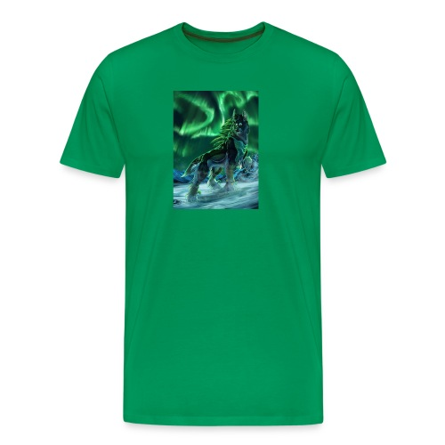 Painting Art Wolves Aurora 535561 736x1024 - Men's Premium T-Shirt