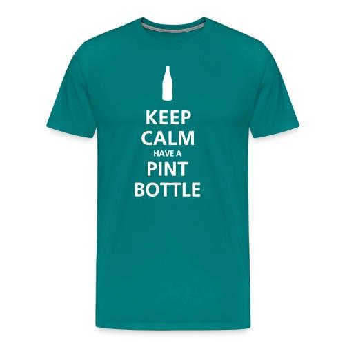Keep Calm Pint Bottle - Men's Premium T-Shirt