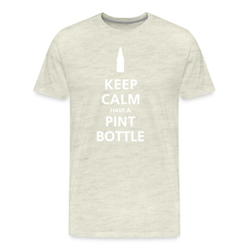 Keep Calm Pint Bottle - Men's Premium T-Shirt