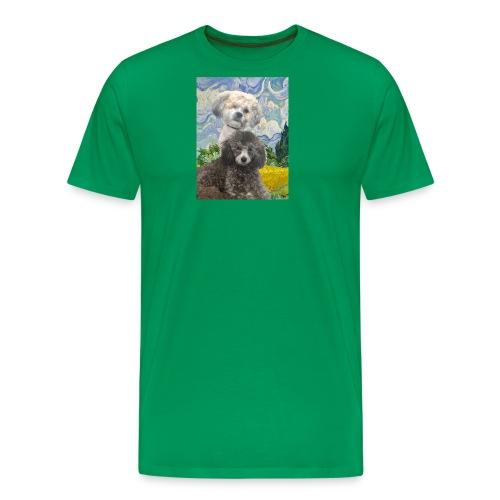 Morty and Wonton - Dogs of Modern Art - Men's Premium T-Shirt