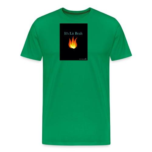 It's lit brah bandana - Men's Premium T-Shirt