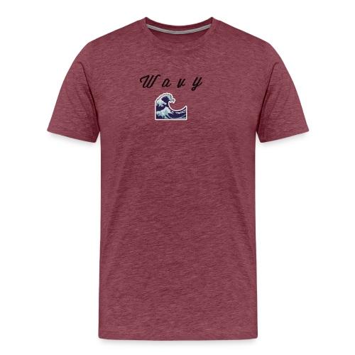 Wavy Abstract Design. - Men's Premium T-Shirt