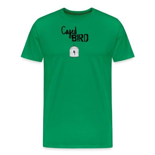 Caged Bird Abstract Design - Men's Premium T-Shirt
