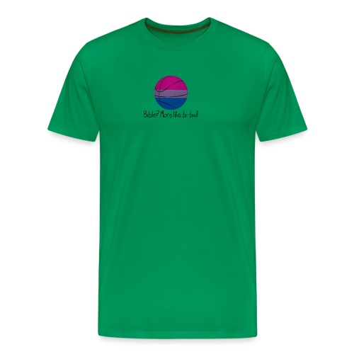 Bible? More Like BI-BALL! (Sexuality Pun) - Men's Premium T-Shirt
