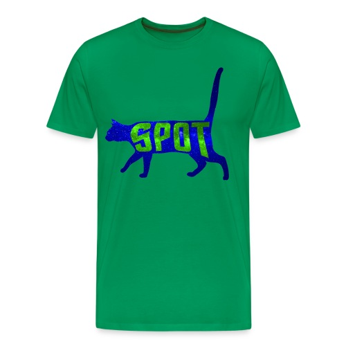 Data's Cat Spot (Blue and Green) - Men's Premium T-Shirt