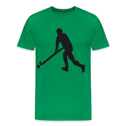 FieldHockeyMaleSilhouette - Men's Premium T-Shirt