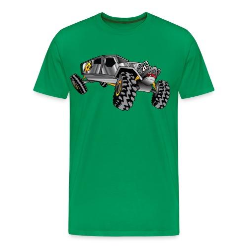 Rock Crawling Monster Truck Silver - Men's Premium T-Shirt