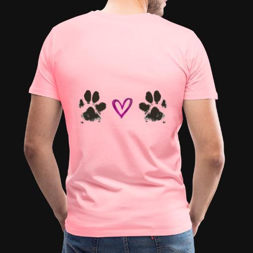 Paw Love black - Men's Premium T-Shirt