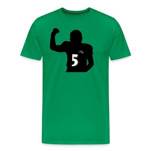 flacco january FRONT BLK 2 png - Men's Premium T-Shirt