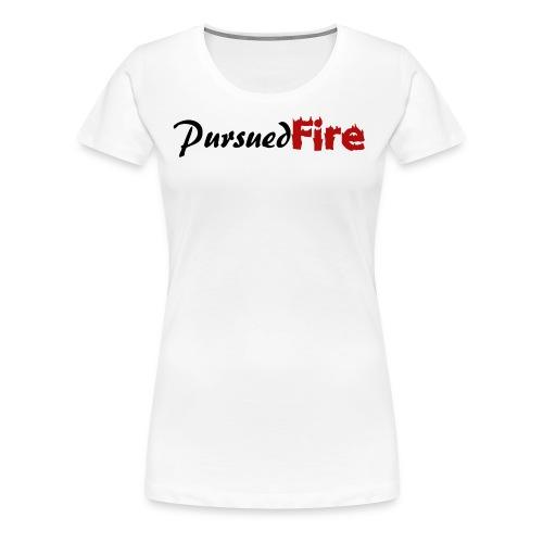 PursuedFire Logo Black/Red - Women's Premium T-Shirt