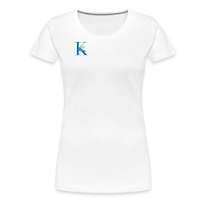 Initial Rose - Women's Premium T-Shirt