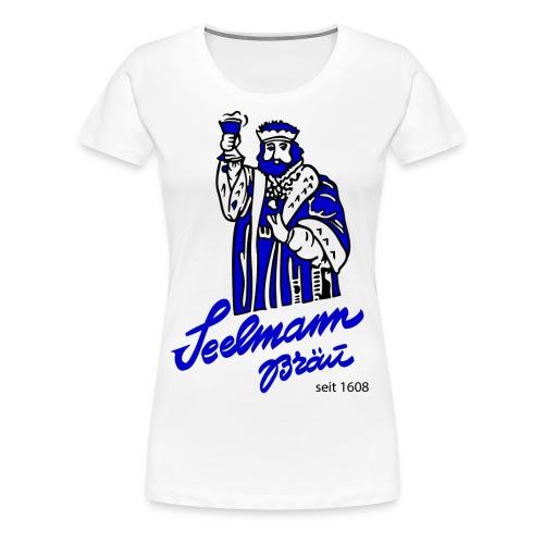 Brewery Gambrinus logo blue - Women's Premium T-Shirt