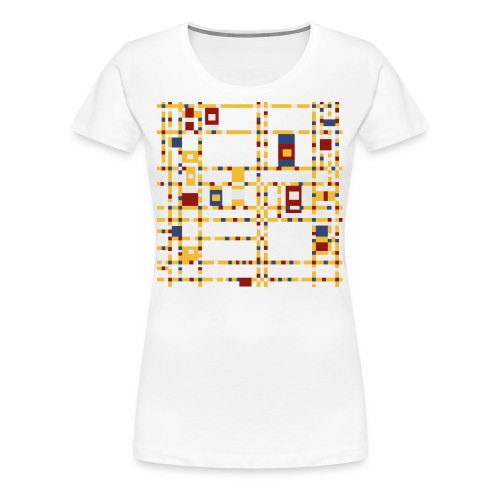 Broadway Boogie-Woogie by Piet Mondrian - Women's Premium T-Shirt